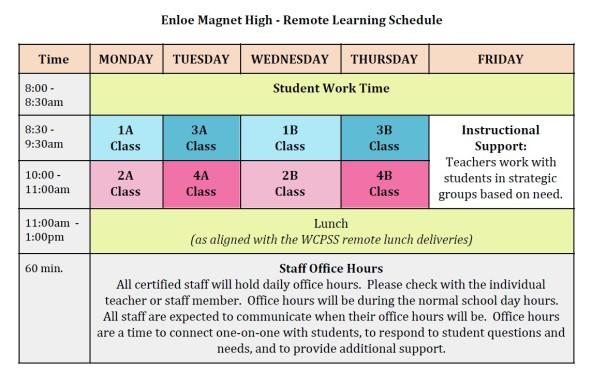 enloe-2020-remote-learning-schedule
